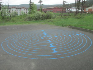 The Labyrinth in parking lot